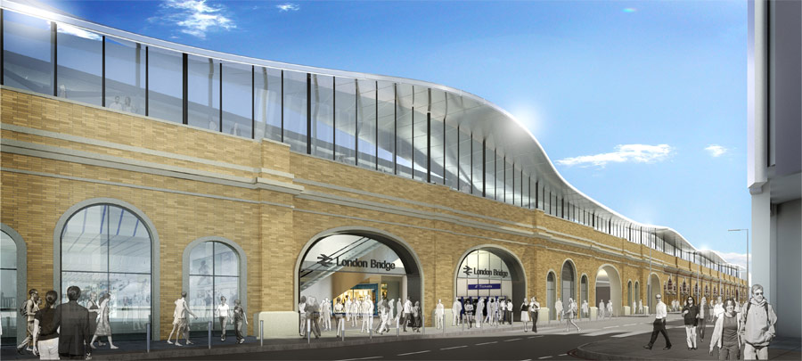 Computerised image of London Bridge Station