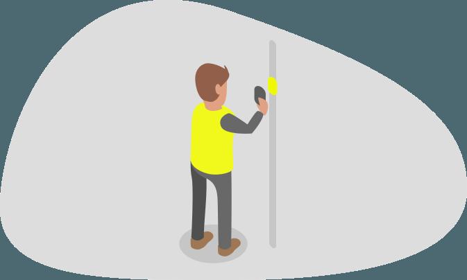 Man inspecting scaffolding